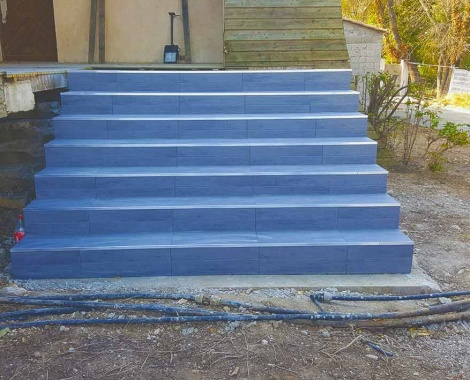 Construction escalier beton Montpellier 34